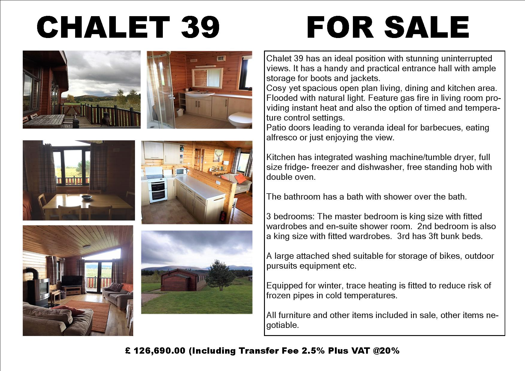 Chalet 39 - Holiday Home For sale