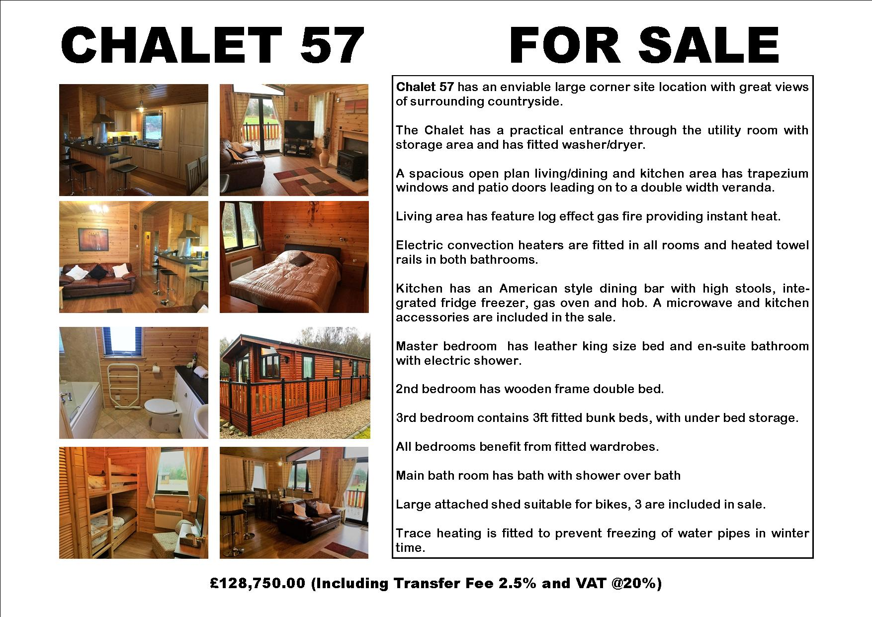 CHALET 57 FOR SALE