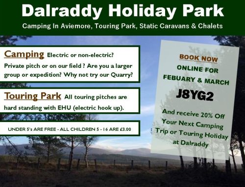 Discounted Camping & Touring at Dalraddy – FINISHED